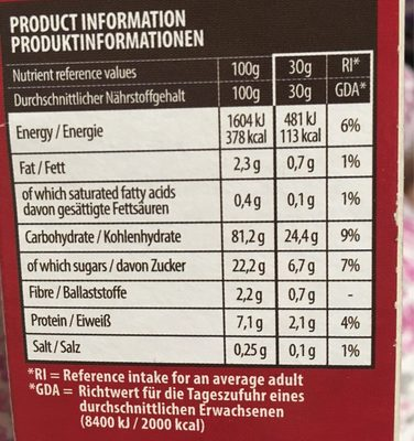 Strawberry pillow snack vegan - Informations nutritionnelles