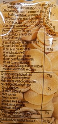 Garofalo orecchiette - Valori nutrizionali