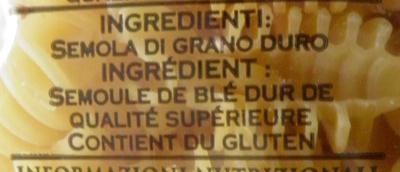 (87) Radiatori - Ingrédients - fr