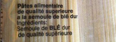 Spaghettini - Ingrédients - fr