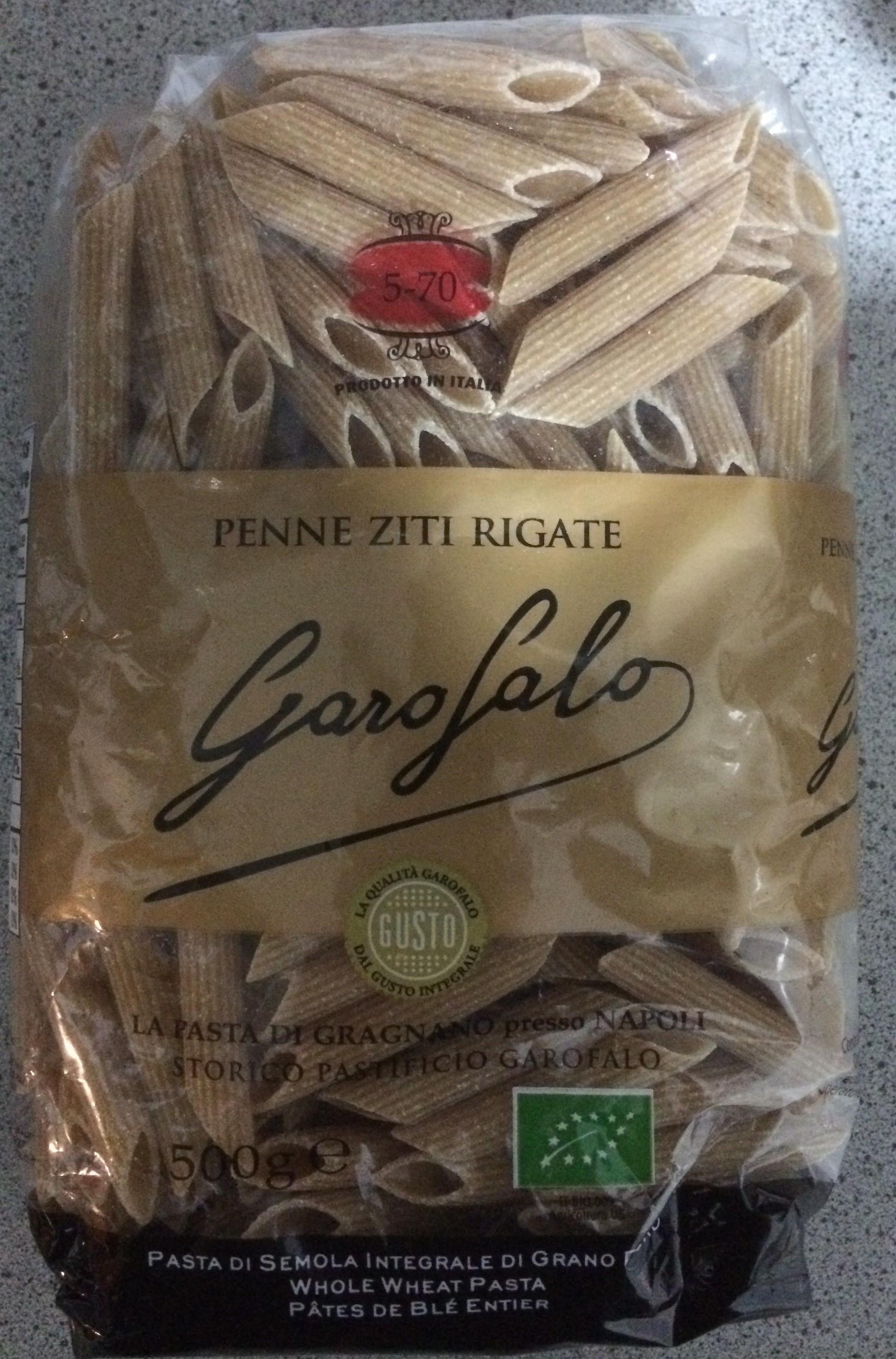 N°5-70  Penne Ziti Rigate Integrale Biologico - Produit