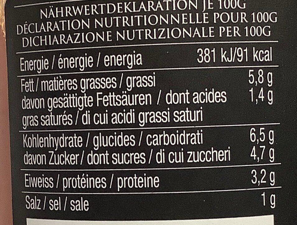 Sugo Arrabbiata - Valori nutrizionali - de