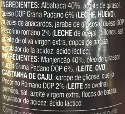 Pesto - Ingrédients - fr