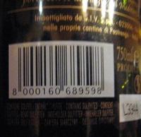 Monte Pietroso Rosso 2010 (et 2012) - Ingredients - it
