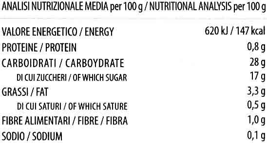 Postre de arroz Cacao - Información nutricional - es
