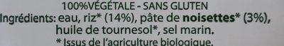 Organic Rice Drink With Hazelnut - Ingrédients