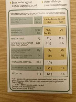 Organic Rice Drink With Hazelnut - Voedingswaarden - en