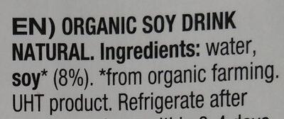 Napój sojowy bio - Ingredients - en