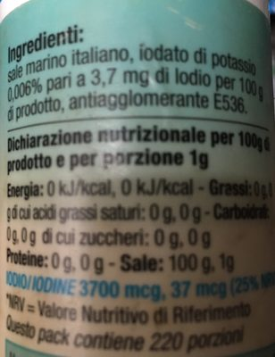 Sale Iodato Protetto - Ingredientes - it