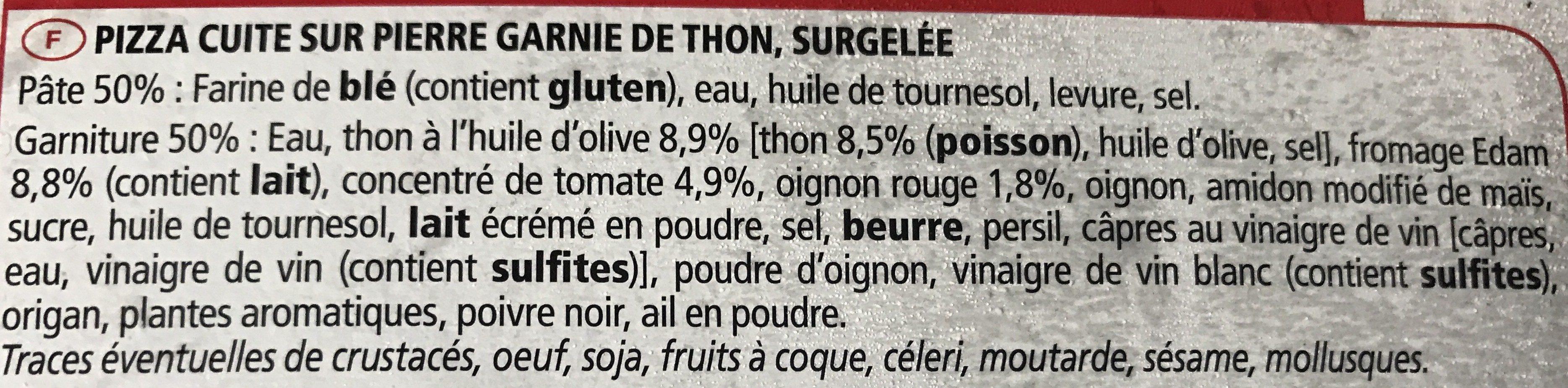 Pizza Cuite Sur Pierre Thon Edam Oignon Rouge Rolli 340 G - Ingrédients - fr