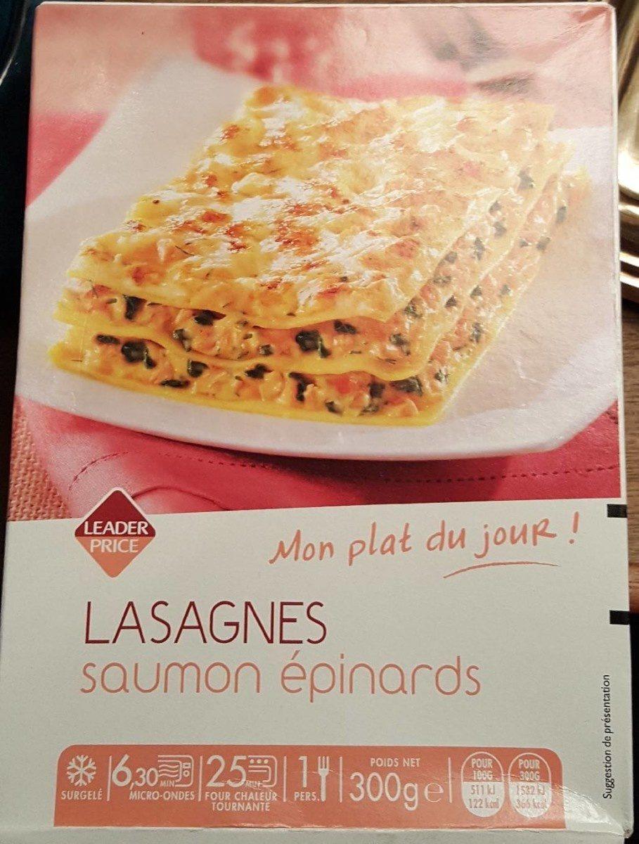 Lasagnes saumon epinards - Product - fr