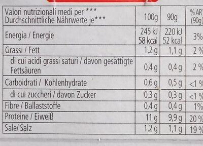 Linea oro - Nutrition facts - it