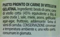 Montana Vitello - Ingredienti
