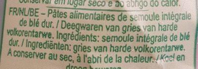 Buitoni Integrale Penne Rigate Vollkorn - Ingredients - fr