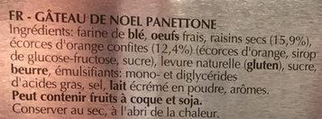 Panettone - Ingrediënten - fr