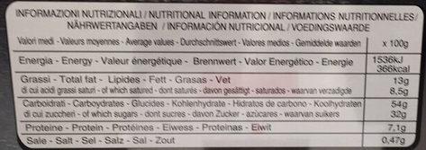 Panettone - Voedingswaarden - fr
