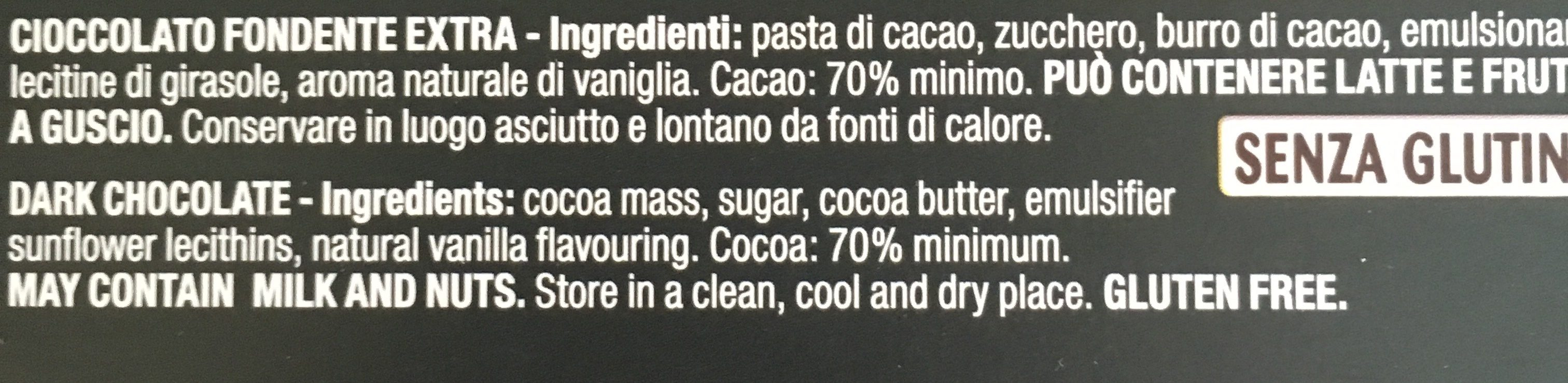 Nero Fondente Extra 70% - Ingredienti