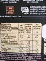 Nero Fondente Extra 70% - Informazioni nutrizionali