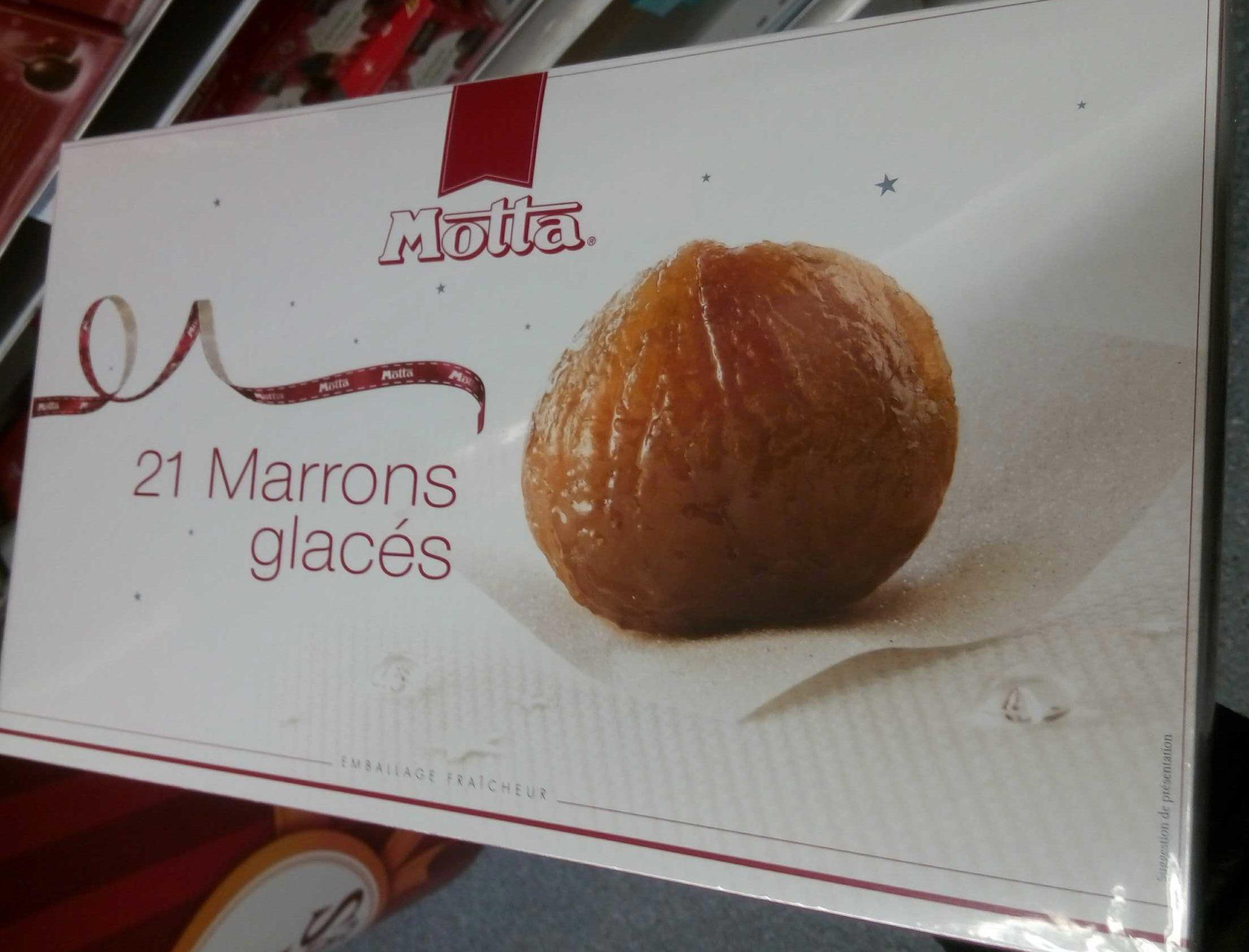 21 Marrons glacés - Produit