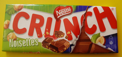 Nestle crunch, milk chocolate with crisp cereals bar, hazelnut - Product