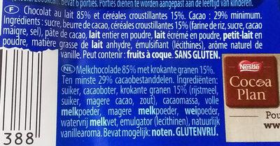 Crunch - Ingrediënten - fr