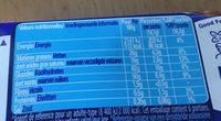CRUNCH Lait Tablette - Informação nutricional - fr