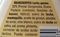 Salsa 4Fornaggi - Ingredients