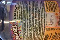 Mini smarties - Ingredients
