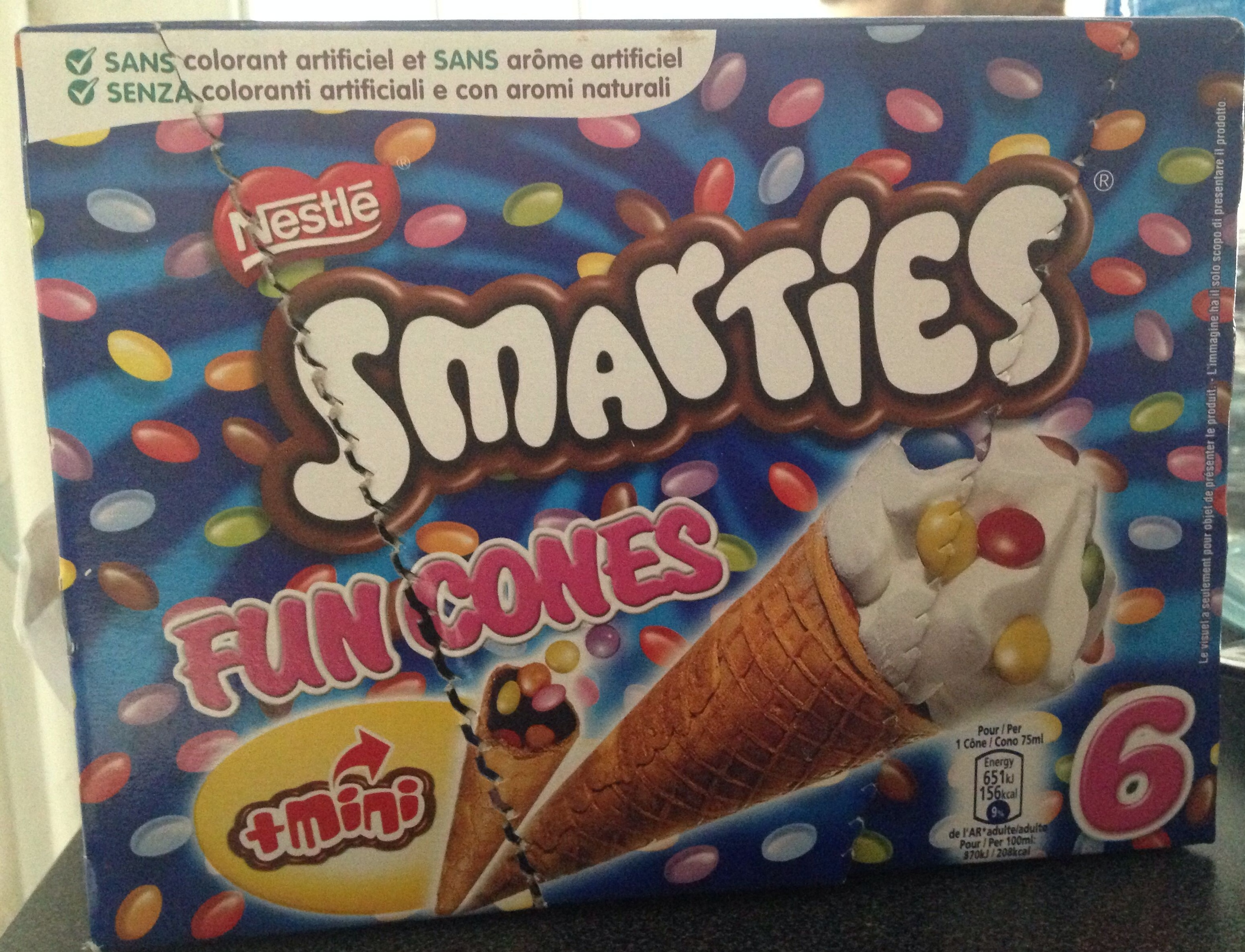 Smarties fun cones - Product - fr
