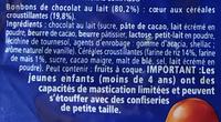 TOP CRUNCH - sachet billes - Ingrédients - fr