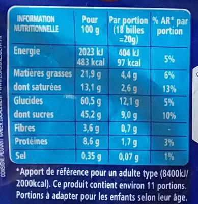 TOP CRUNCH - sachet billes - Informations nutritionnelles - fr