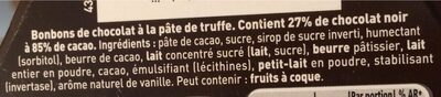 Lanvin Truf. nr 85%cacao - Ingrediënten - fr