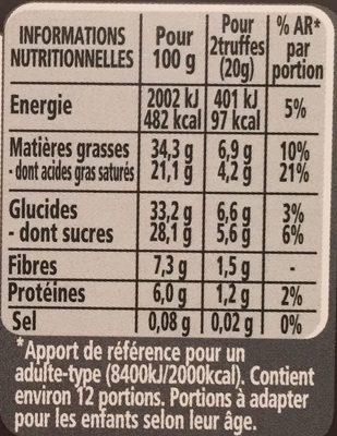 Lanvin Truf. nr 85%cacao - Voedingswaarden - fr