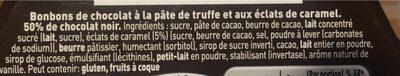Truffes Noir éclats de caramel pointe de sel - Ingredienti - fr
