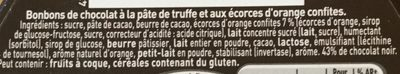 Truffes orange confite noir - Ingrediënten - fr