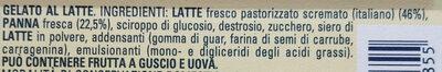 Gelato al Latte - Ingredients