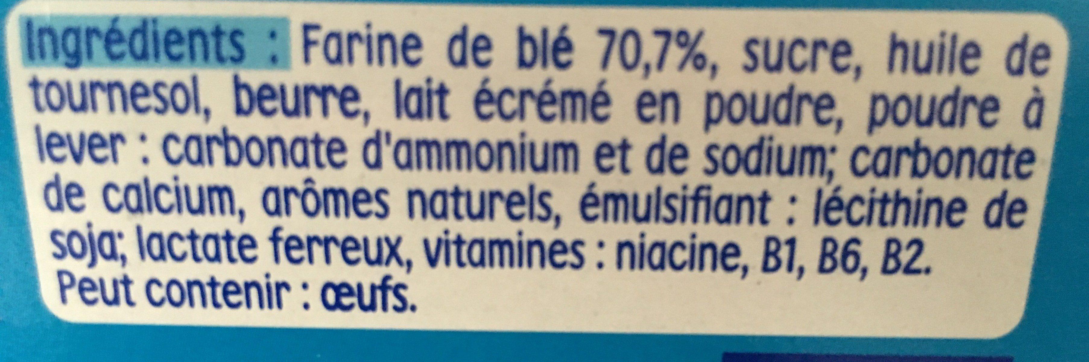 Nestle p'tit biscuit - Ingredients