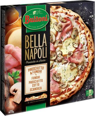 BUITONI BELLA NAPOLI pizza surgelée Prosciutto e Funghi - Produit - fr