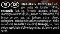 BUITONI BELLA NAPOLI pizza surgelée Prosciutto e Funghi - Ingrédients - fr