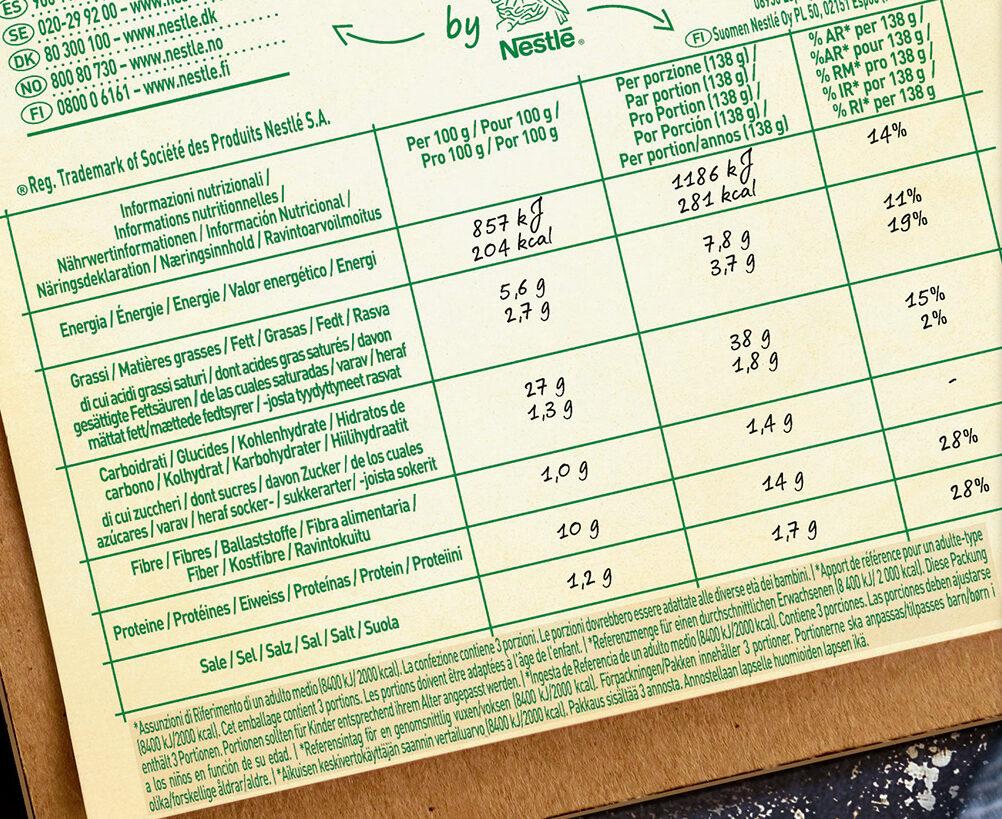 BUITONI BELLA NAPOLI pizza surgelée Prosciutto e Funghi - Informations nutritionnelles - fr