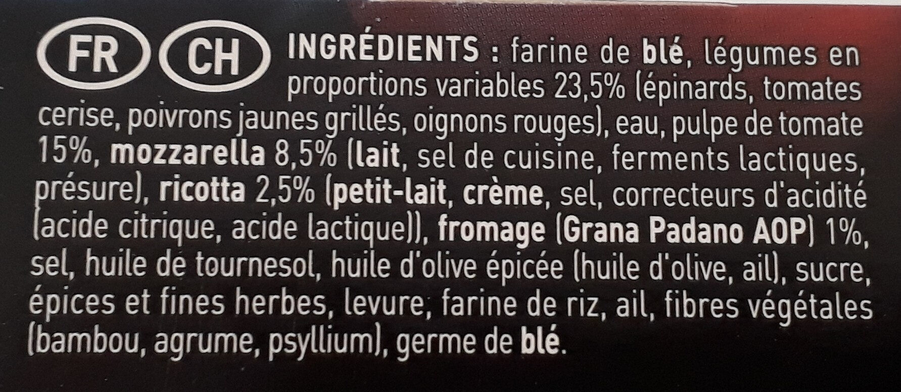 Bella Napoli verdure - Ingrédients