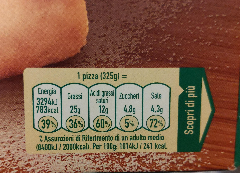 pizza bella Napoli - Nutrition facts