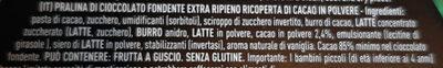 Tartufi fondenti 85% cacao - Ingrédients