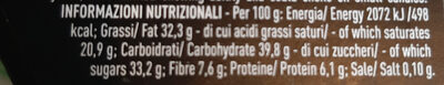 Tartufi fondenti 85% cacao - Nutrition facts