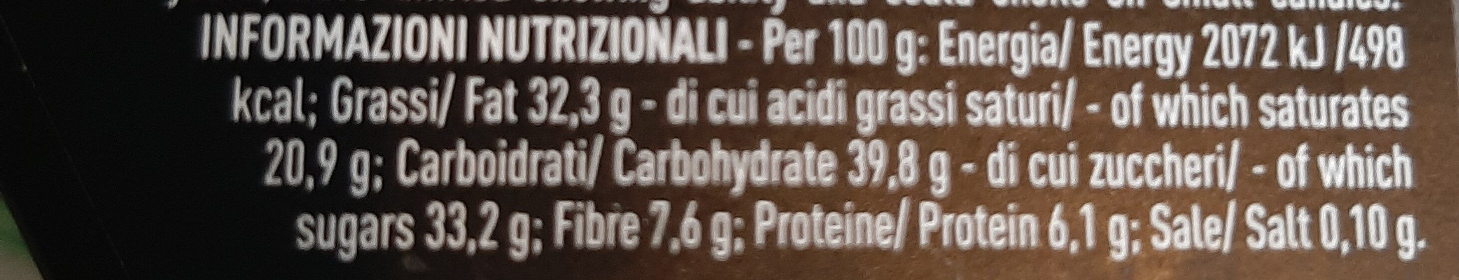 Tartufi fondenti 85% cacao - Nutrition facts - it