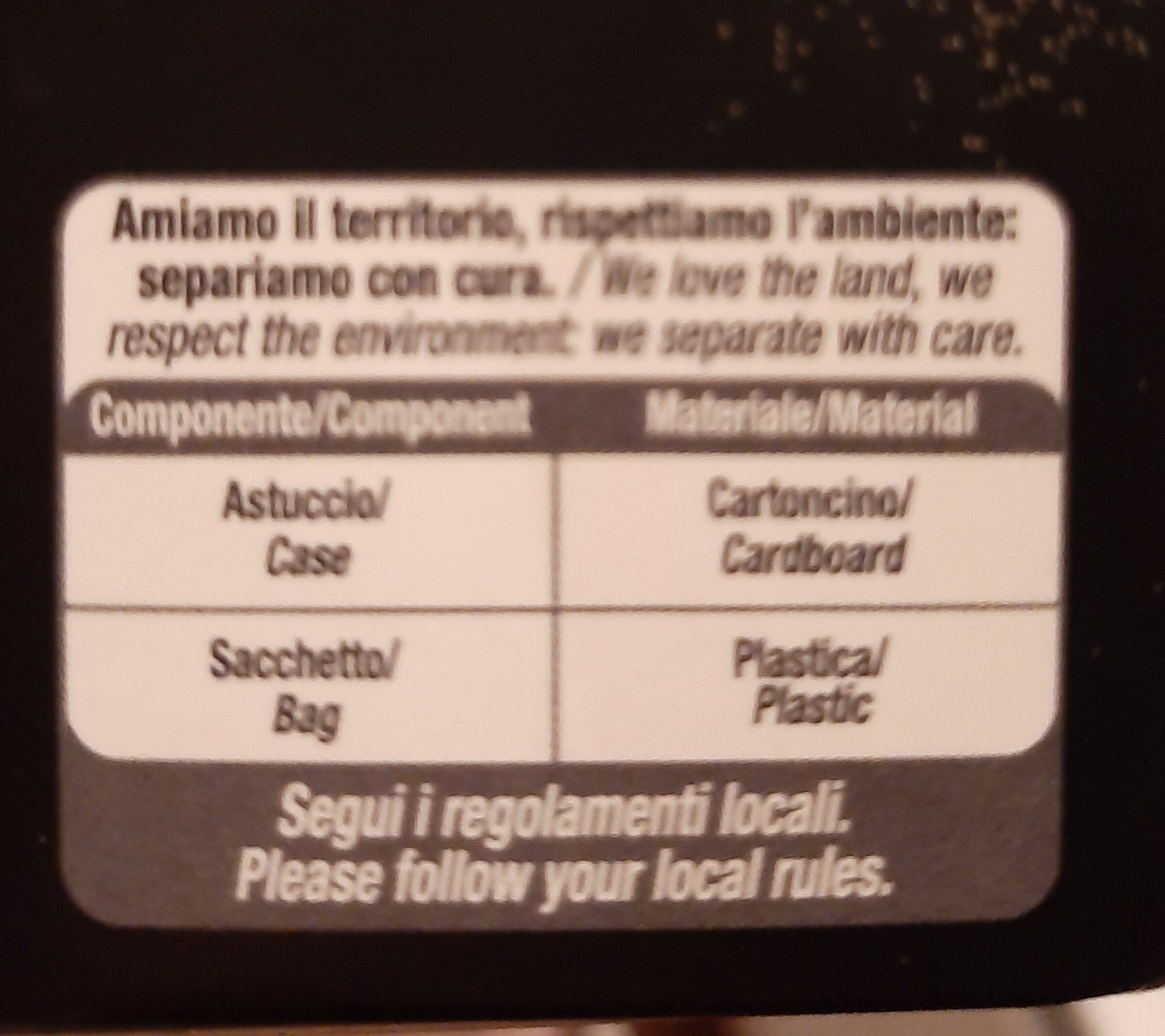 Tartufi fondenti 85% cacao - Recycling instructions and/or packaging information - it