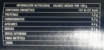 Passata verace - Informations nutritionnelles
