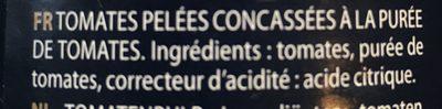 Pulpe en dés - Ingrédients - fr