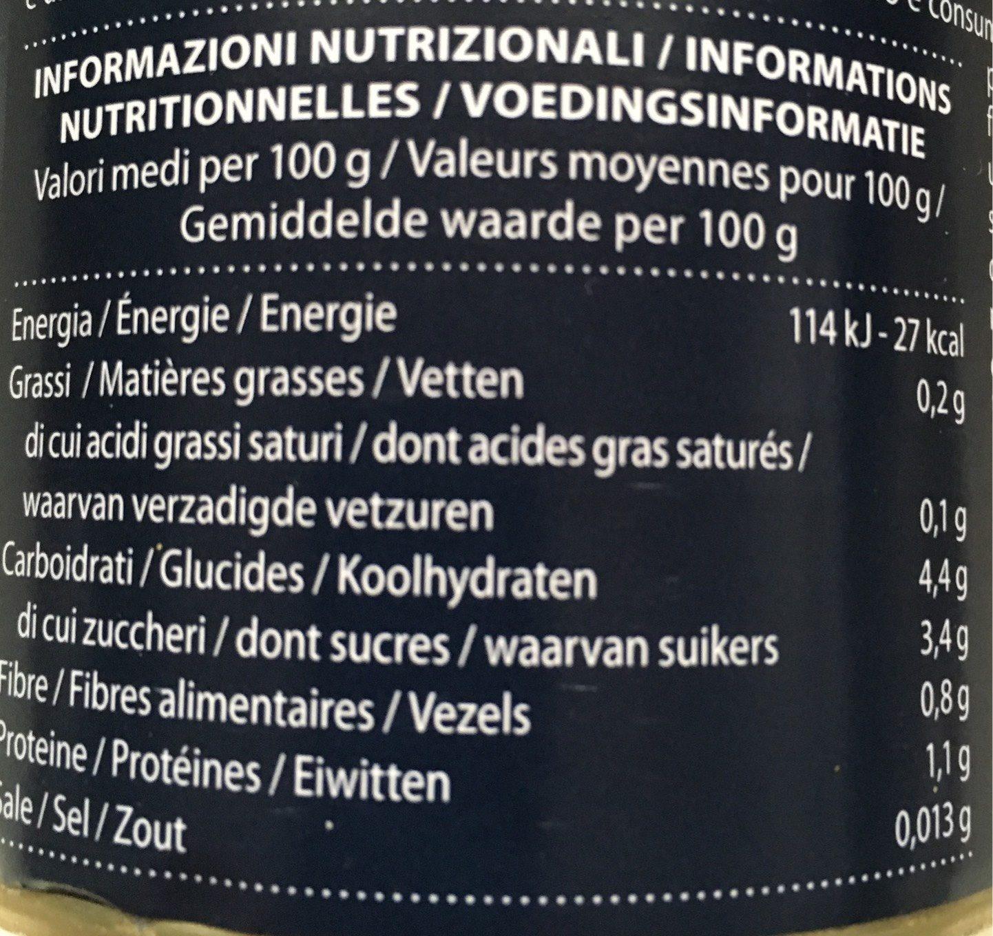 Gemüse: Tomaten: Pulpa - Informations nutritionnelles - fr