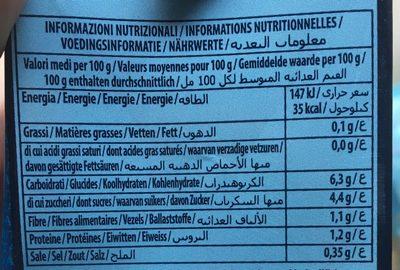 Passata - Nutrition facts
